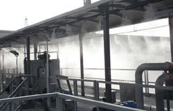 Ultrasonic humidifiers used for mining industry