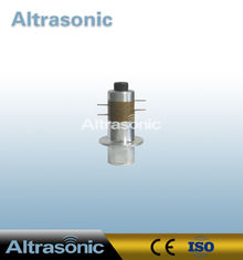 China Piezoelectric 50KHz Ultrasonic Welding Transducer With 4 Pieces Yellow Ceramic supplier
