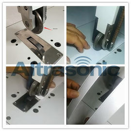 China Rotatory Ultrasonic Welder For Sealing / Cutting Nylon Laminated Fabric Filtering Paper factory