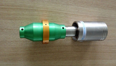 China Green Booster 1/1 Ratio 20khz Transducer Replacement Branson For Cutting Machine distributor