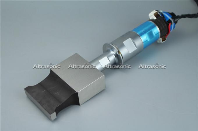 20khz 1500w Ultrasonic Transducer with Titanium Booster and flange for welding equipment
