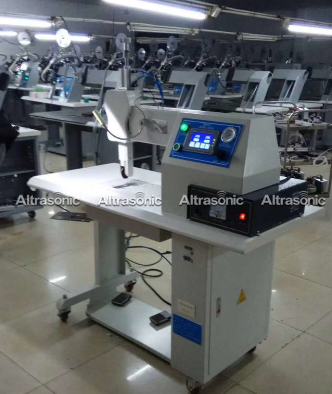 Ultrasonic Sealing machine 35khz With Titanium OEM Wheel for polyester fabric sewing