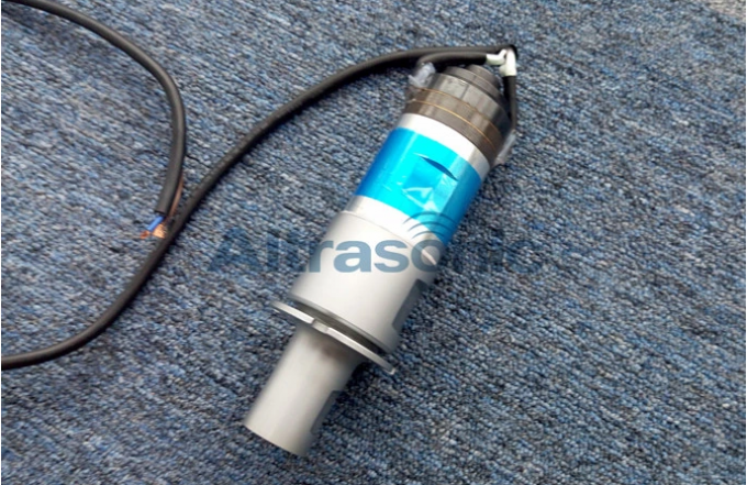High Power 1500W Ultrasonic Welding Transducer , Ultrasound Piezoelectric Transducer